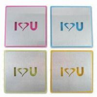 Coasters in Square Design, Made of S/S and Acrylic Materials, Measures 10.5 x 10.5 x 10.5cm Manufactures