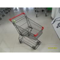 80L supermarket shopping cart of  Four Wheeled with anti UV plastic parts Manufactures