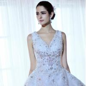 Luxury Beaded Rhinestone wedding dresses , women tulle puffy wedding dresses Manufactures