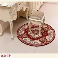Round Shape Flat Woven Area Rug Chinese Style Comfortable Feature Manufactures