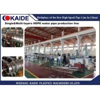 Single / Multi Layers Plastic Water Pipe Making Machine For HDPE Cold / Hot Water Pipe Manufactures