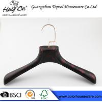 rose gold metal hook plastic hanger imitate wood hanger Manufactures