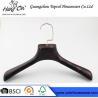 Buy cheap rose gold metal hook plastic hanger imitate wood hanger from wholesalers