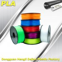 Desktop 1.75mm / 3.00 mm PLA 3D Printer Filament Big Size Colorful Manufactures