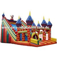 Commercial Grade Inflatable Slide Combo With Dome Pillar For Children Games Manufactures