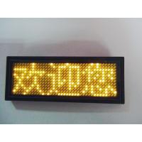 China LANPAI  Factory price Programmable LED scrolling message Badge on sale