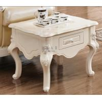 China Small square coffee table end tables with drawer on sale
