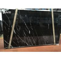 Buy cheap selected popular black marble nero marquina marble slab 20mm thick from wholesalers