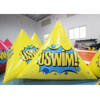 China Triangle 2.5m Inflatable Marker Buoy Hot Air Welding UV Resistant on sale