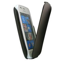 Nokia phone 710 synthetic leather case sleeve cover, plain black, all around protection, Manufactures