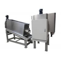 Volute Screw Fully Automatic Filter Press Sludge Dehydrator For Sewage Treatment Plant In Food / Beverage Industry Manufactures