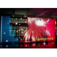 China P10mm Transparent Outdoor LED Curtain Display For Advertising / Backdrop on sale