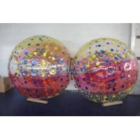 0.7mm / 1.0mm TPU Inflatable Zorb Ball With Soft Back Cushions Manufactures