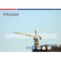 Steel Building Tower Crane Certification CE , ISO , TUV 0-0.65r/min Slewing speed Manufactures