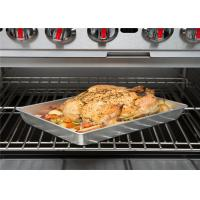 China 3.58 Qt. Non Stick Baking Tray , Finish Aluminum Roasting Pan Serving Food on sale
