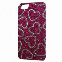 China Crystal Case for iPhone 5, Novel Design Logos and Environment Crystals on sale