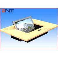 Black Matte Touch Screen Flip Up  LCD Monitor Lift For Audio Video Conference Manufactures