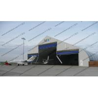 Outdoor Aircraft Hangar Tent , Temporary Garage Tent High Level Industrial Door Design Manufactures