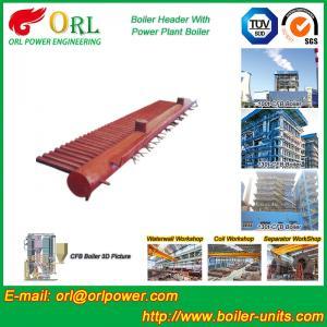 Low Pressure Steel Electric CFB Boiler Header Boiler Steam Header Water Tube Structure Manufactures