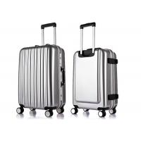 PC film ABS sturdy luggage sets with 4pcs 360 degree rotating wheels and aluminium trolley Manufactures