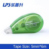 Green Mini Correction Tape , PET Colored Eco Friendly Staples Correction Tape Manufactures