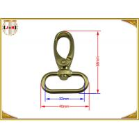 Quick Release Brass Plating Swivel Snap Hooks With Oval Ring Environmental Protection Manufactures