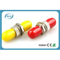 Red Or Yellow Fiber Optic Connector Adapters With Brozen Sleeve Low Repeatibility Manufactures