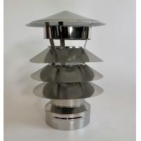China Tower-shaped Rain Caps Stainless Steel Material Weather Resistant on sale