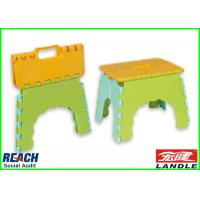China Green Yellow Sports Fan Merchandise Fold Away Step Stool Comfortable on sale