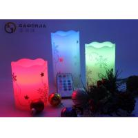 Hand Craft Drawing Small Electric Candles With Moving Wick 12 Colors Manufactures