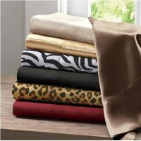 Microfiber Twin Linen Bed Sheets / Solid Changing Pad Cover For Home Manufactures