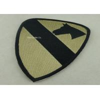 Heat Cut Custom Embroidery Patches with Hot Melt Adhesive 10 mm Thickness Manufactures