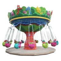 Animal Shape Flying Chair Ride 16 People Running Diameter 7.5m Height 5m Manufactures
