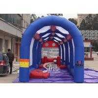 Outdoor commercial Kids N adults inflatable football assault course for interactive games Manufactures