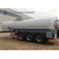 Transport Sulfuric Acid 30000L Oil Tank Trailer 3 Axle With Cylinder Shaped
