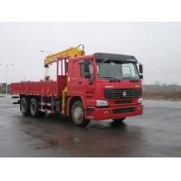 China SINO TRUK 6*4 10ton straight crane truck on sale