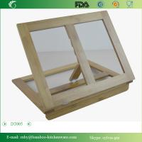 Easy Looking Bamboo Wooden Carbonization Brown Adjustable PAD Kindle Stand Hopder Manufactures