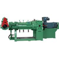 Green Plastic Extruder Machine , Strainer Extruder With Electrical Control Cabinet Manufactures