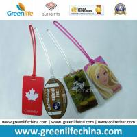 Customer Design Logo Hard PVC Luggage Tag W/Colored Loops Manufactures