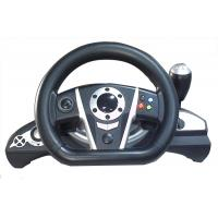 China 2.4G RF Wireless Racing Video Game Steering Wheel With Receiver / F1 Gear Shift on sale