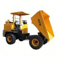 China Yellow 4x4 Wheel Drive Small Farm Transporter Truck Dumper FCY30 with Sunshade on sale