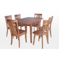 Custom Rectangle Restaurant Rubberwood Dining Table With Six Chair Manufactures