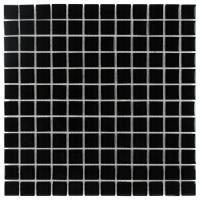 Solid Black Glass Mosaic tile for Kitchen wall and swimming pool Manufactures