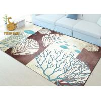 China Fashionable Non Skid Backing Area Rugs , Large Living Room Rugs Waterproof wholesale