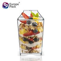 Europe pack bpa free food plastic Eco-Friendly disposable cake containers for sale