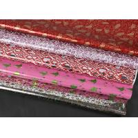 Extra Wide Foil Wrapping Paper Rolls Luxury Yellow Red Coloured Decorative Aluminized Manufactures