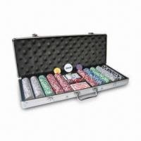 China 2011 Poker Set with Chips , Play Card, Dices, Dealer and Cosmetic Case , Measures 580 x 200 x 67mm on sale