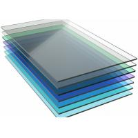Colored Monolithic Polycarbonate Sheet , Pergola Clear Flat Roof Panels Manufactures