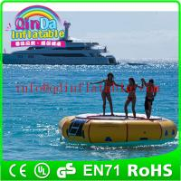 Amusement inflatable water play equipment floating trampoline orbit water trampoline Manufactures