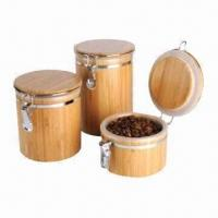 China Bamboo Storage Container, Made of Full Natural Bamboo, Eco-friendly, Various Shapes are Available on sale